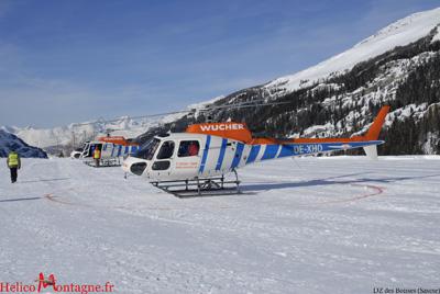DZ des Boisses Tignes - SAF Hélicoptères