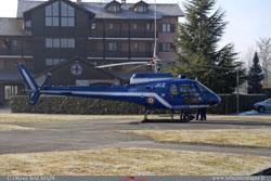 Ecureuil Gendarmerie de LYON posé sur la DZ