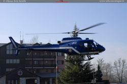 Décollage de l'AS 350 BA Gendarmerie