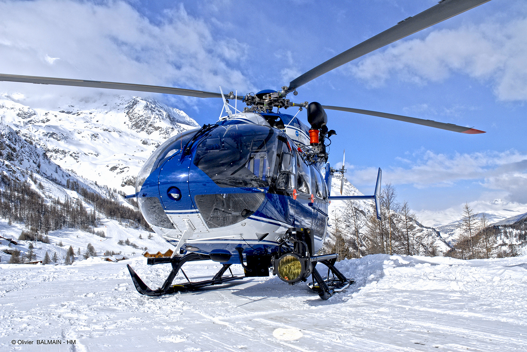 Choucas hélicoptère Gendaremerie  - © Olivier BALMAIN