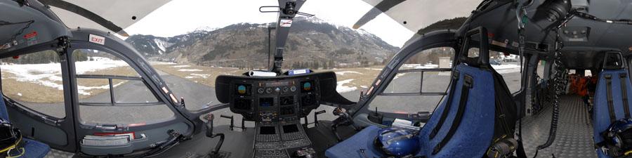 Visite virtuelle 360° hélicoptère choucas gendarmerie