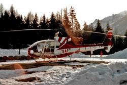 Gazelle SA342 J - SAF - F-GCCJ - Posé sur DZ SAF Argentière (74)