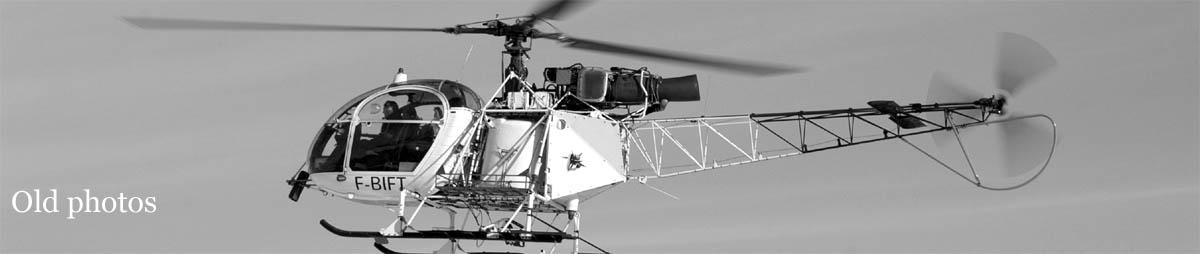vieux hélicoptères dans les Alpes