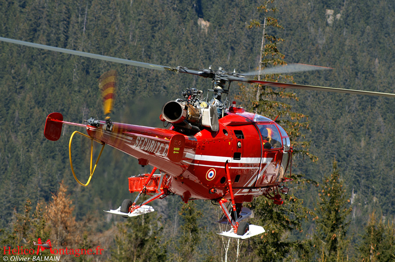 Alouette III Sécurité Civile DRAGON 74 Chamonix