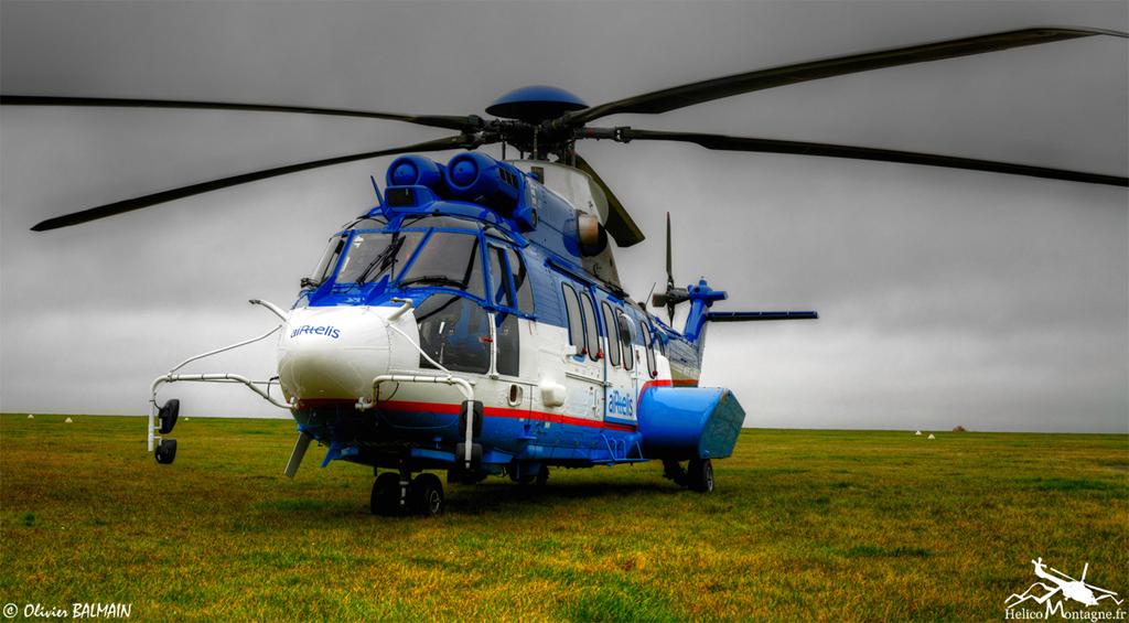 EC225 AIRTELIS Posé près de Poitier pour EDF production