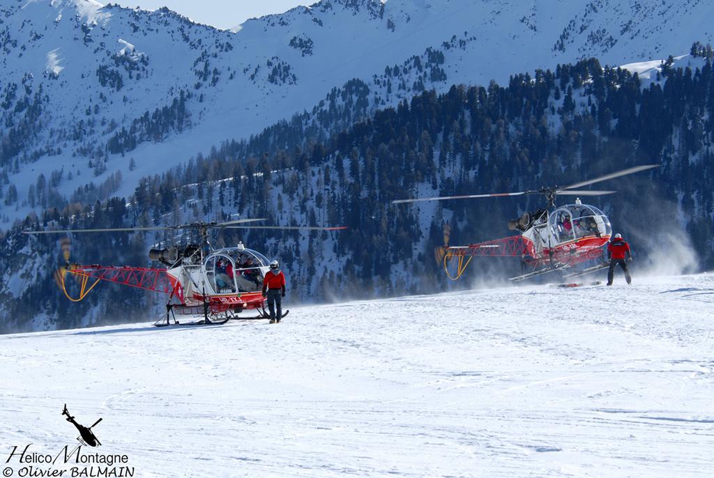 LAMA SA315 B Air Glacier SUISSE pour rotation héli-skis