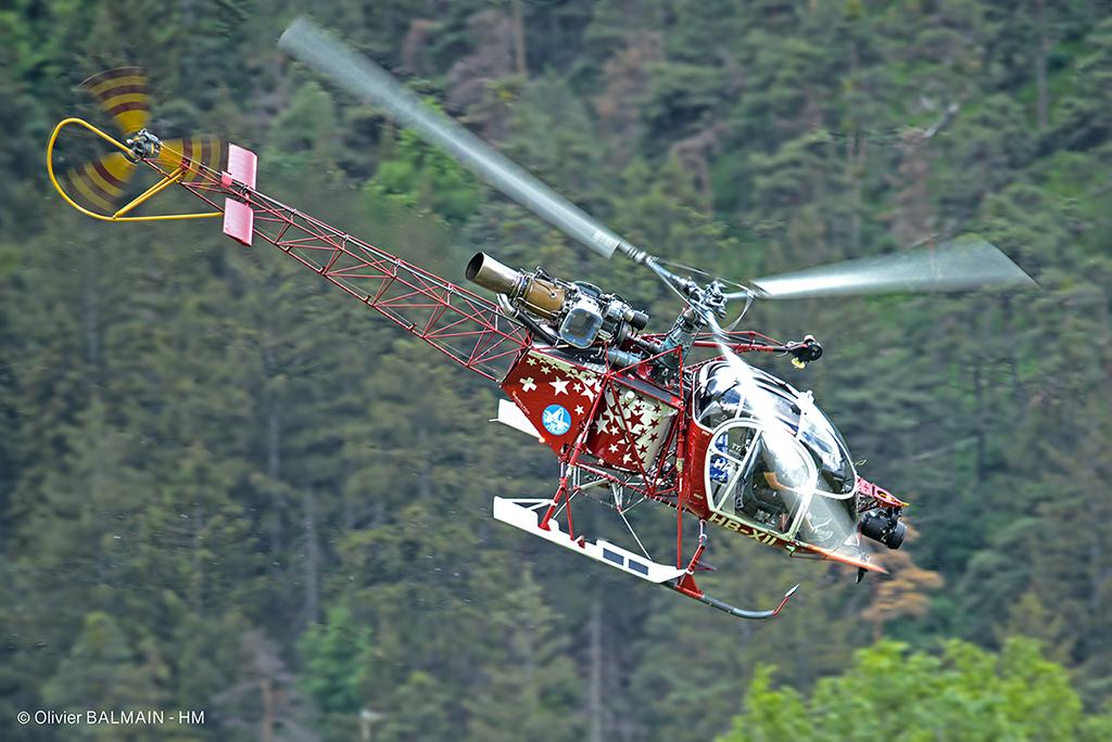 Sud Aviation LAMA SA315 HB-XII Air Zermatt - Raron - Suisse