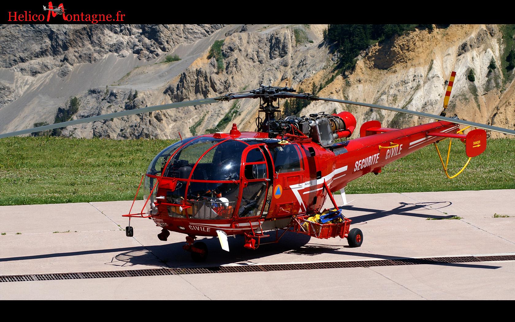 Alouette III Sécurité Civile DRAGON 73 Courchevel 2008