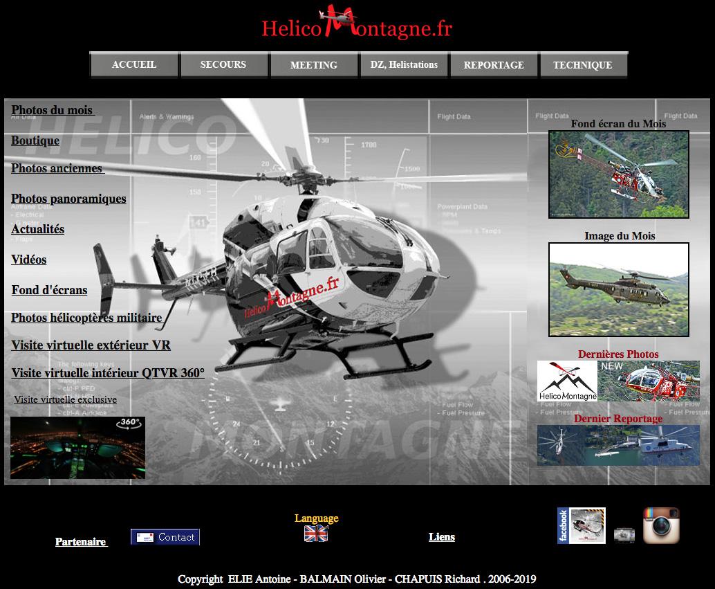 Helicomontagne.fr le site des passioné de l'hélicoptère en montagne