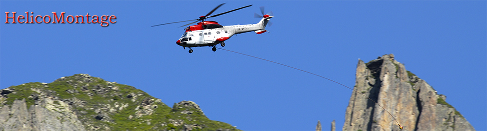 Helicopter expertise in the mountains, in cities all over Europe