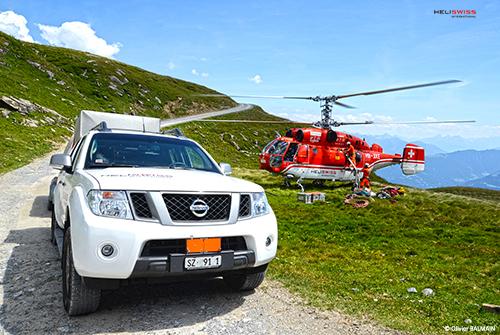 heliportage avec hélicoptère KAMOV KA32 en montagne, montage remontée mécanique France