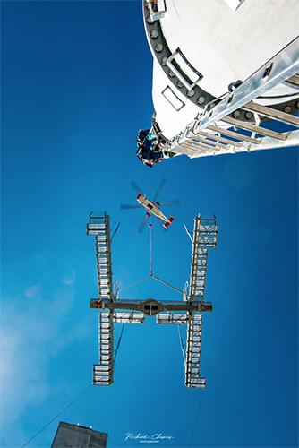 Héliportage - Hélicoptère gros porteur montage télésiège haute savoie Chamonix