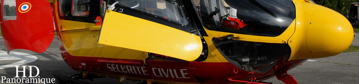 photo format panoramique hélicoptère en très haute résolution