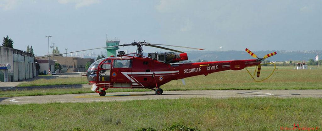 Alouette lll SA 316 B Securite Civile - Lyon Bron