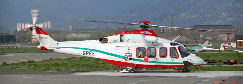 AB 139 AIR Green . Soccorso Alpino - Aoste
