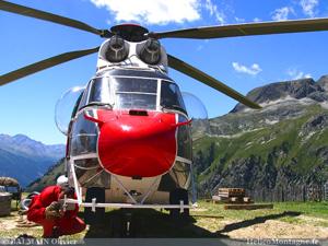 Préparation héliportage avec hélico Super Puma AS332 C1 à Aussois Savoie
