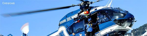 page photo Choucas hélicoptère Gendarmerie