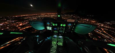 Visite virtuelle vol de nuit EC145 Choucas 73 - Mission de secours en montagne de nuit