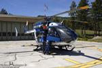 Preparation du secours avant que Choucas 04 décolle de la base de Digne-les-Bains