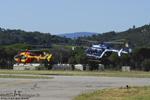 Choucas 04 EC145 F-MJBD et DRAGON 06 au décollage du Luc en Provence