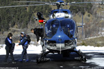 Hélicoptère F-MJBE EC 145 posé à modane