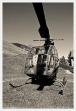 Vue de l'hélicoptère DJINN photo noir et blanc