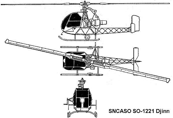 Schémas hélicoptère Djinn SO-221