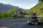 AS332 C1 Super Puma - Eagle Helicopter - Décollage de la DZ de Chamonix