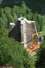 Ce qui reste du P6 chantier aval apres l'intervention de la société VLM