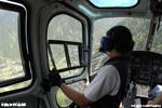 Ecureuil F-HADE AS350 B3 MBH vol près des lignes se poser au plus près