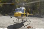 Bathie 73 / l'écureuil F-HADE décolle pour une rotation de charge