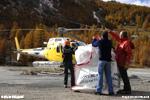 Héliportage de charge pour TDF à Val d'Isère 73