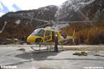 Préparatif pour le vol pour monter les technicien sur le relais de Belvarde