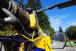 Vue du LAMA SA 315 B F-HCRB de la société Pagés Hélicoptère sur la DZ