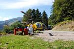 Le LAMA SA 315 B sur la DZ pour le refueling