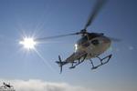 MBH Hélicoptères Avoriaz - l'AS350 B2 F-GJJH en final