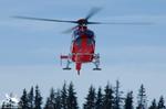 MBH Hélicoptères Avoriaz - l'EC135 T2 F-GVYM en final pour récup sur les Carroz