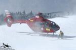 MBH Hélicoptères Avoriaz - EC135 T2 F-GVYM au décollage après un secours