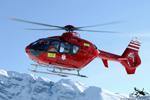 MBH Hélicoptères Avoriaz - EC135 T2 F-GVYM médicalisé sur Avoriaz