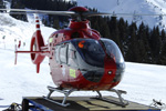 MBH Hélicoptères Avoriaz - Arret des moteurs de l'EC135 T2
