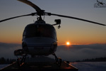 MBH Hélicoptères Avoriaz - Couché de soleil sur la base