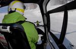 MBH Hélicoptères Avoriaz - Posé avec guidage du pisteur secouriste, le risque est la perte de repair