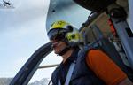 MBH Hélicoptères Avoriaz - Pilote de l'EC135 en retour de l'hopital d'Annecy