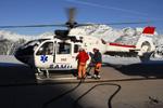 SAF Hélicoptères Base secours Courchevel - Refueling rotor tournant, pour un départ urgent sur un secours
