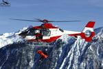 SAF Hélicoptères Base secours Courchevel - Treuillage avec EC135 F-GOPG