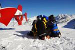 SAF Hélicoptères Base secours Courchevel - Secours sur le glacier de Tignes