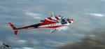 Ecureuil AS350 B3 SAF en final pour les plots Hangar N°1