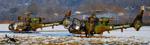 Gazelles SA 342M posé sur l'éarodrome LFKA