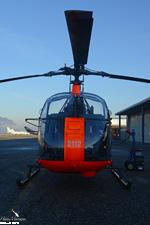 Alouette II SA318 C F-GPKC posé à Chambéry LFLB