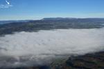 Les vallées de la Savoie sous les nuages